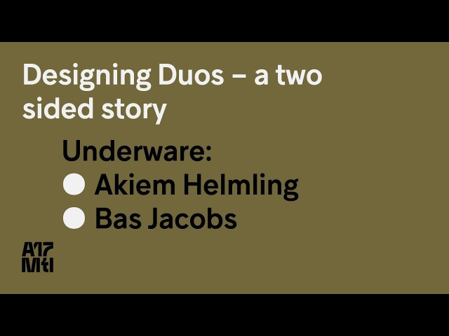 Designing Duos – A Two Sided Story - Bas Jacobs, Akiem Helmling - ATypI 2017