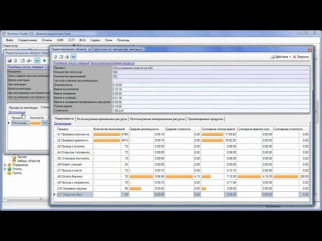 Business Studio 3.5 Имитационное моделирование и ФСА