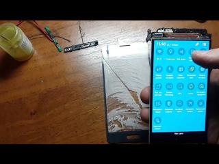 разделение сенсорного стекла на дисплейном модуле samsung alpha g850f