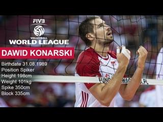 TOP 10 Best Volleyball Spikes by Dawid Konarski - FIVB Volleyball World League 2017