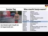 Deutsch lernen A1- Schritte plus 1 Lektion 5  Sonjas Tag  umgangssprachliche Uhrzeit