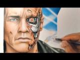 Drawing Terminator _ Desenhando o Exterminador do Futuro