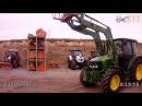 Погрузчик POM VX 90 с лесным захватом HZ 230 для бревен на тракторе John Deere