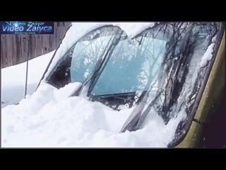 Прикольные автомобильные дворники!Сами очищаются .Автор гений