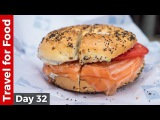 Salmon Bagel at Russ &amp Daughters and Amazing Tacos at Los Tacos No. 1 in NYC