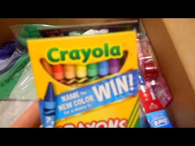 Распаковка посылки с Америки : картерс, крайола, карандаши,клей,зубные щётки