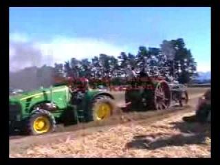 John Deere vs Steam Tractor john deere vs steam tractor