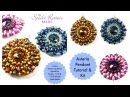 Asteria Pendant with 12mm rivoli superduos 11 0 and 15 0 seed beads