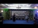 Галина Ушакова читает стихи на закрытии Всероссийской недели слепоглухих в Даг ...