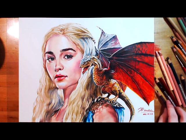 Drawing Daenerys Targaryen(Emilia Clarke), Game of Thrones   drawholic