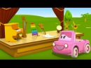 3D cartoon. Clever cars and Musical Instruments. Animated series and Educational cartoon for Kids.