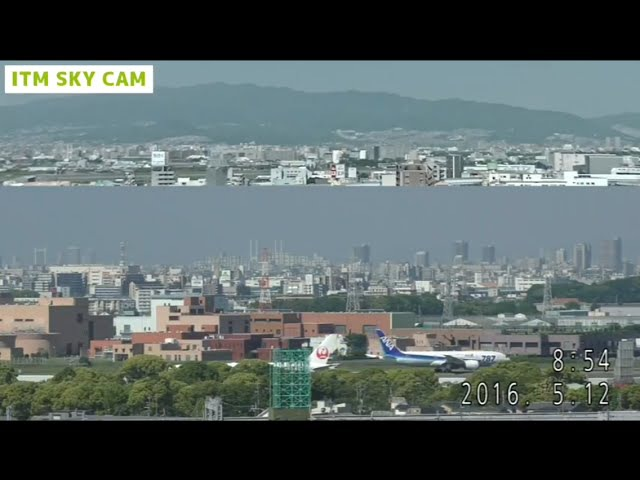 ✔【LIVE】 ITM SKY CAM ◆大阪国際空港 伊丹空港◆ 32LライブカメラOsaka-Int'l-Airport (ITAMI) Operation Hour 07:00-21:00JST