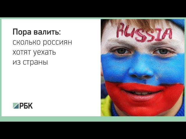 Пора валить: сколько россиян хотят уехать из страны