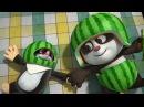 Мультики для детей - Кротик и Панда - Большой арбуз Спорт в лесу - Новые мультфильмы 2017!