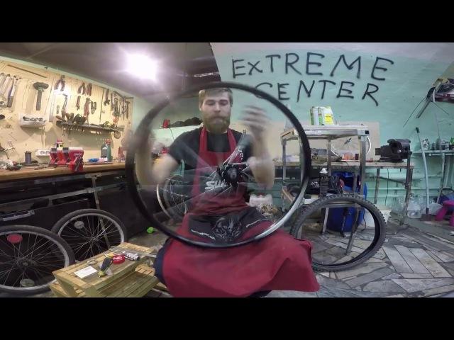 Спицевание велосипедного колеса