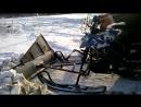 Трактор из dingo t125. Убираем снег снегоходом