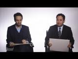 Лин-Мануэль Миранда играет в викторину Премия Оскар вместе с редактором журнала The Hollywood Reporter