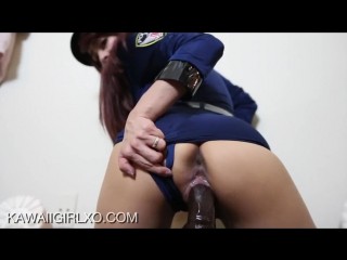 Police sits on black cock [amateur, webcam, kawaiigirl]