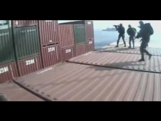 Special Force Helmet Cam - Dutch Boarding Commando Raids Ship Hijacked By Somali Pirates