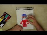 Томас Астрюк делает быстрый рисунок с Леди Баг
