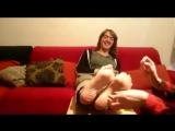 Mother Tickles Daughters Feet