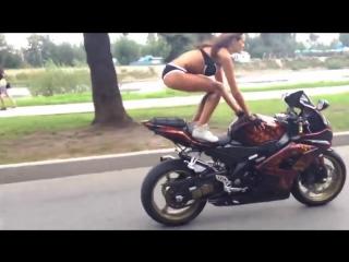 Russian Biker Girl- MUST WATCH