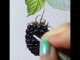 Blackberry with aqua primer Schmincke