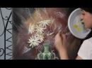 Букет полевых цветов акрилом и маслом для начинающих