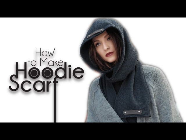 Easy DIY Sew From Scratch | Hoodie Scarf
