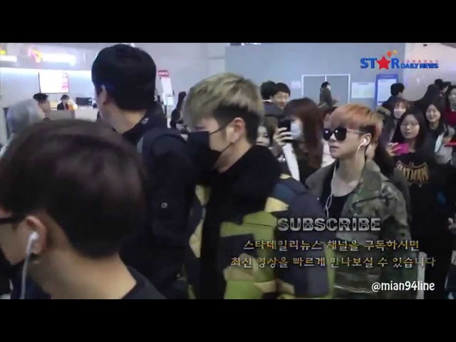 JUNHOE - JINHWAN moments at ICN Airport 151201 | JunHwan