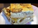 Открытый пирог с грибами и печенью на дрожжевом тесте