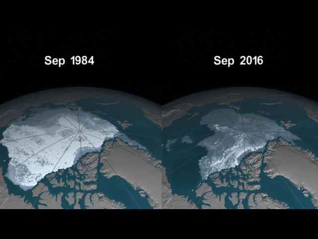 Видео от NASA о таянии ледников