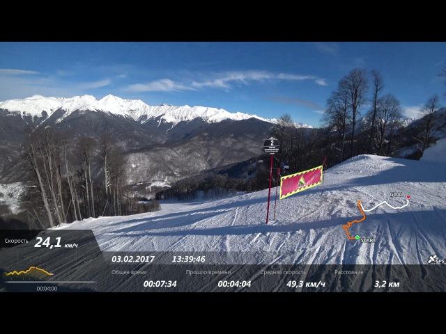 Роза Хутор, 107 км/ч, Мужской Олимпийский Спуск, 2017-02-07, 13:07