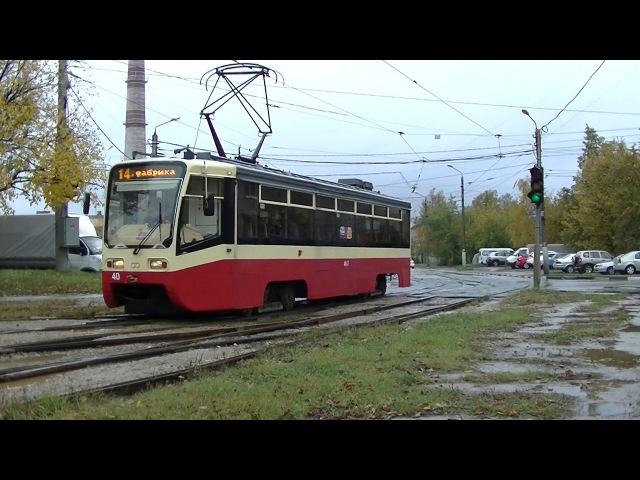 Трамвай 71-619 (КТМ-19) в Туле.