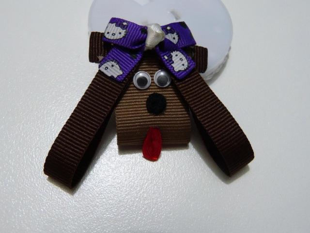 Apliques de perritos en cinta para el cabello .