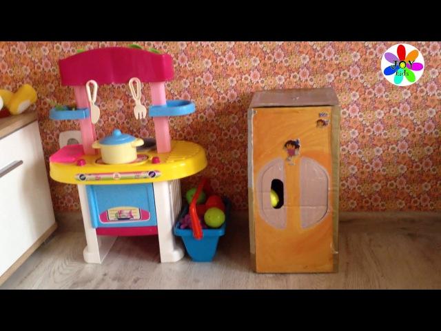 Поделка холодильник из коробки для детской кухни