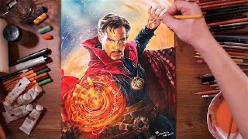 Doctor Strange (Benedict Cumberbatch) - speed drawing | drawholic