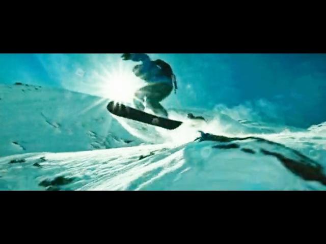 Спуск со снежной горы Момент из фильма На гребне волны