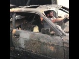 You can't kill a BMW even with fire! car after burning still running! For all BMW fans!