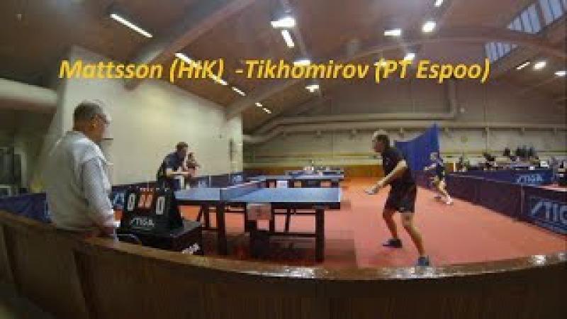 I division. Helsinki. Mattsson (HIK) - Tikhomirov (PT Espoo)