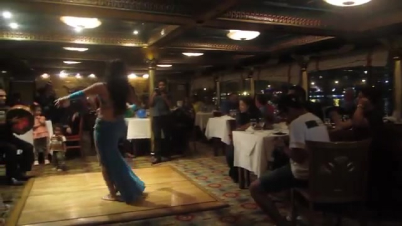 Belly dancer Aleya of Cairo Nile Pharoah's Boat Cairo Egypt 2014 6549