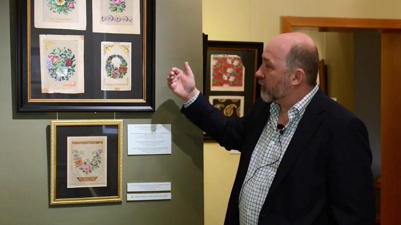 Выставка старинных схем для вышивания «Волшебство узора» в музее-усадьбе «Арханг