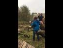Артём стреляет из автомата по мишени! Всеволожск 30 сентября 2017
