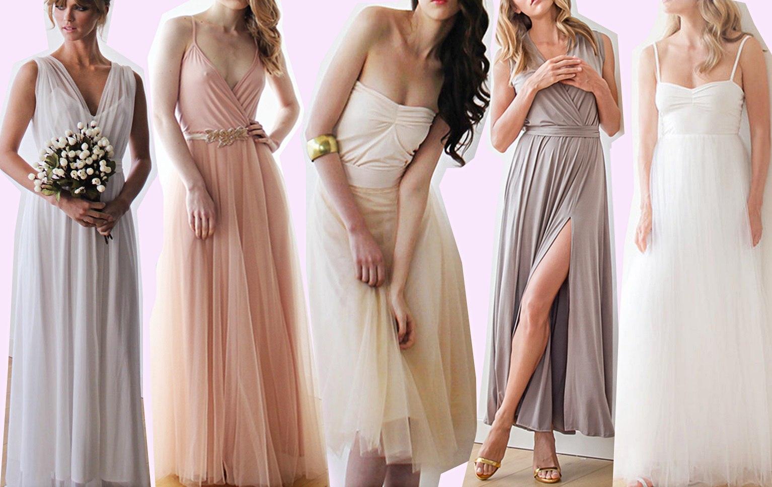свадебное платье прованс цвета