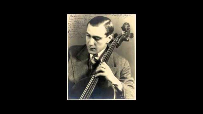 Shostakovich Cello Sonata op.40 - Gregor Piatigorsky Valentin Pavlovsky (1940)