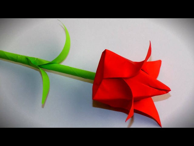 как сделать оригами тюльпан из бумаги своими руками / цветы из бумаги