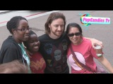 James McAvoy greets fans at X Men Days of Future Past Press Day At Comic Con in SD