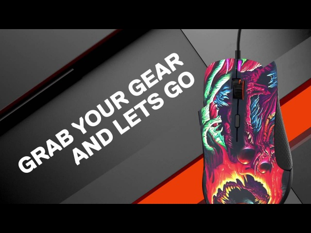 NEW SteelSeries Rival 300 CS:GO HyperBeast Special Edition