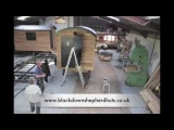 Time lapse of building a Blackdown self build flat pack shepherd hut.