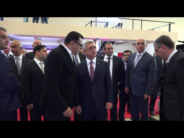 The President of Armenia in the Cigaronne pavilion Made in ArmeniaExpo 2016